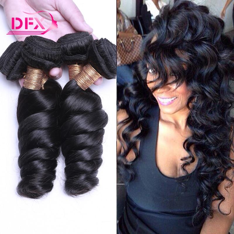 Mink Brazilian Hair Loose Curls Weave 3 Bundles Brazilian Loose Wave