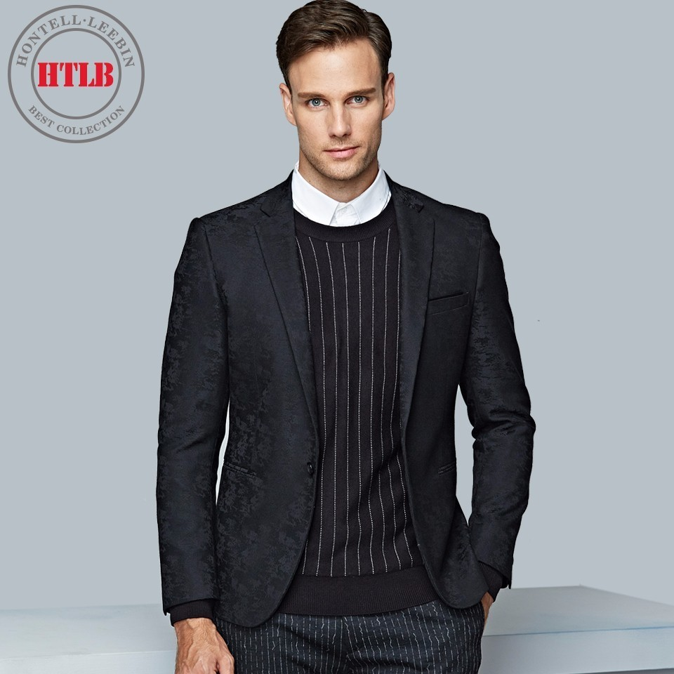 HTLB New Brand England Fashion Men Checked Blazer Suit Jackets ...