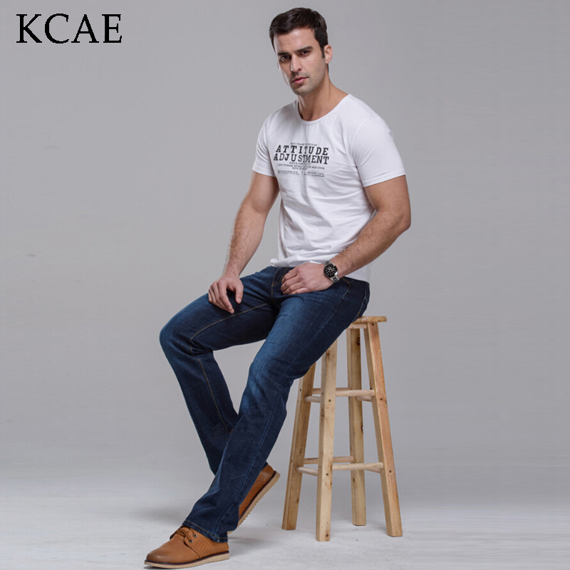 Jeans Men 2016 New Arrival Brand Fashion Casual Slim Fit Straight Long Trousers High Quality Pants Free Shipping