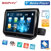 9 Inch Auto Led Kussen Hoofdsteun Monitor Rear Seat Entertainment Multimedia Speler MP4/MP5 Spiegel Link Afneembare Touch Screen