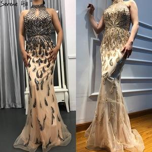 Image 2 - 2020 חדש ללא שרוולים בת ים יוקרה לבוש הרשמי ואגלי נצנצים אופנה סקסי נוצץ ערב שמלות Serene היל LA6359