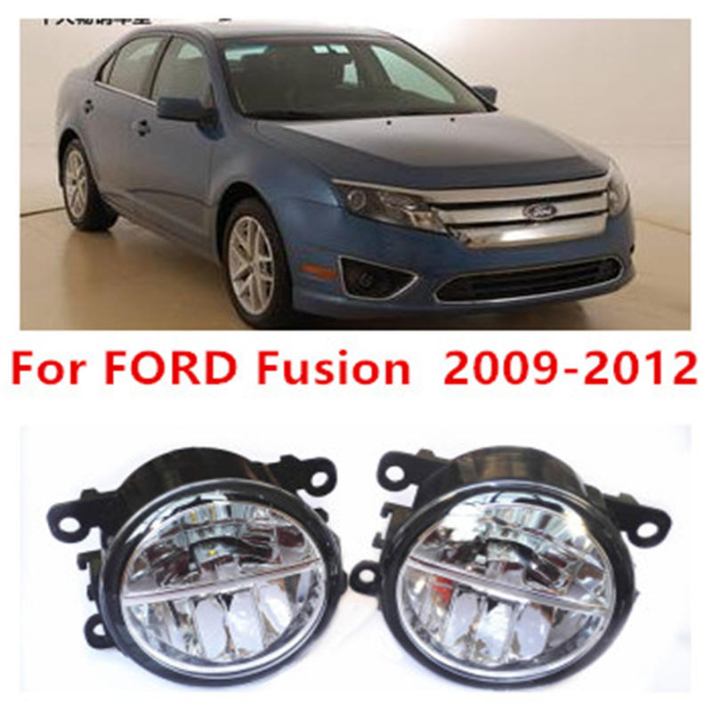 For FORD Fusion  2009-2012 Fog Lamps LED Car Styling 10W Yellow White 2016 new lights for ford fiesta van box 2009 2015 fog lamps led car styling 10w yellow white 2016 new lights