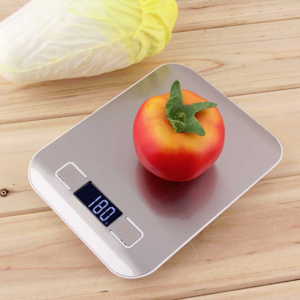 Stainless Steel 1lb X 0.05oz LCD Digital Kitchen Scale 5Kg X 1g Weight Food Diet Automatic Turn-off Kitchen Scale With Battery