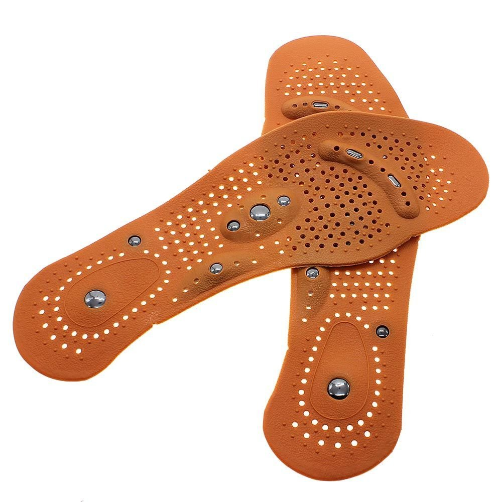 Купить с кэшбэком 1Pair Men/ Women Magnetic Therapy Magnet Health Care Foot Massage  Body Massager InsolesComfort Pads Foot Care  Z50401