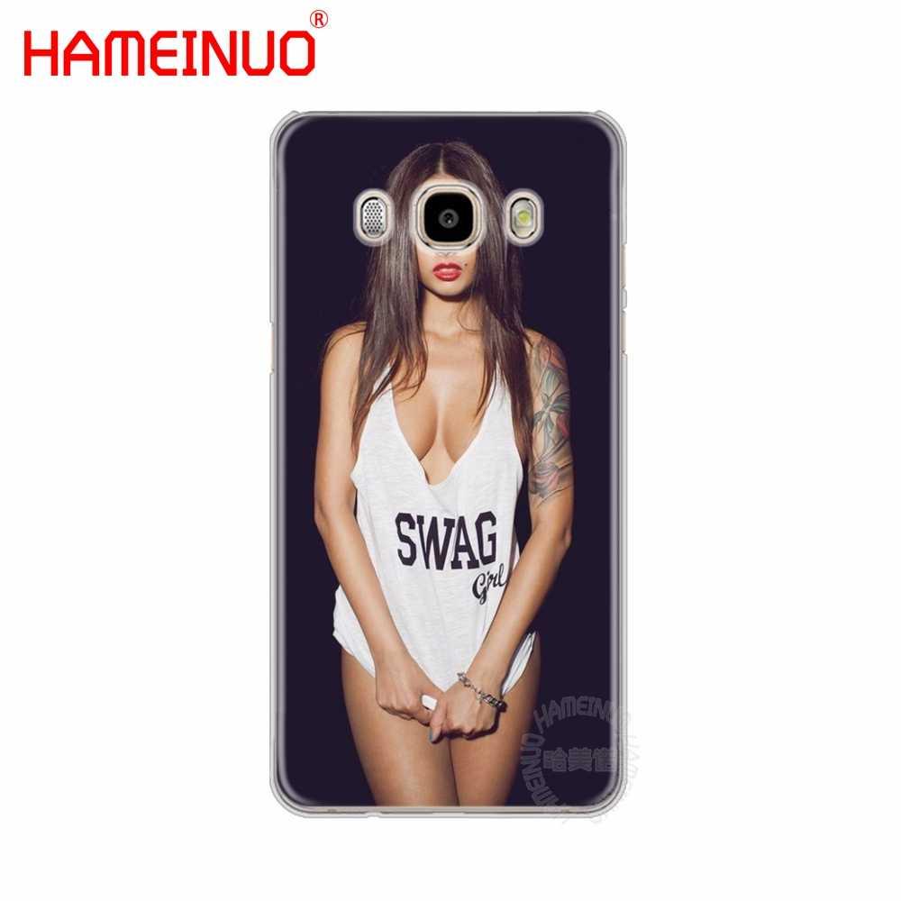 HAMEINUO Seksi Anime Bikini Kız lady kadınlar kapak telefon samsung kılıfı Galaxy J1 J2 J3 J5 J7 MINI ACE 2016 2015 başbakan