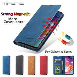 Luxury Leather A51 A71 A01 A11 A21 A31 A41 A81 A91 Case For Samsung Galaxy A70 A50 A40 A30 A20 E A10 M10 Magnetic Wallet Cover(China)
