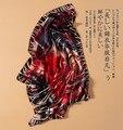 2015 мрачные тона 100% шелка шелковицы шелк ручной край абстрактный дизайн большой площади шарф шелковые шарфы
