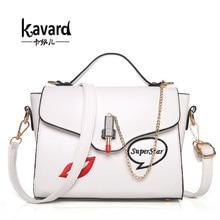 Kavard lujo mujeres de los bolsos diseñador famoso bolsos de marca para las mujeres 2017 sac femme bolsos mujer de marca famosa bolsa de mano de la señora