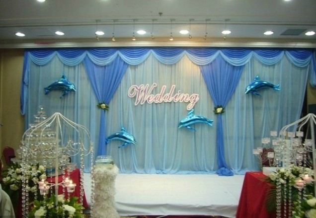 Mediterranean Wedding Banquet Decoration 3mx6m Stage
