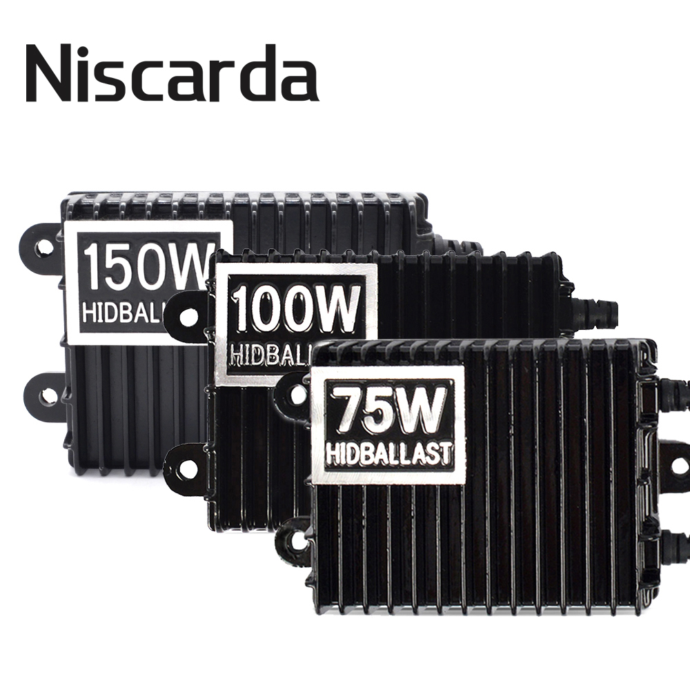 Niscarda 75W 100W 150W HID Xenon Ballast H1 H3 H7 H8/H9/H11 9005/HB3 9006/HB4 Xenon Ballast Kit