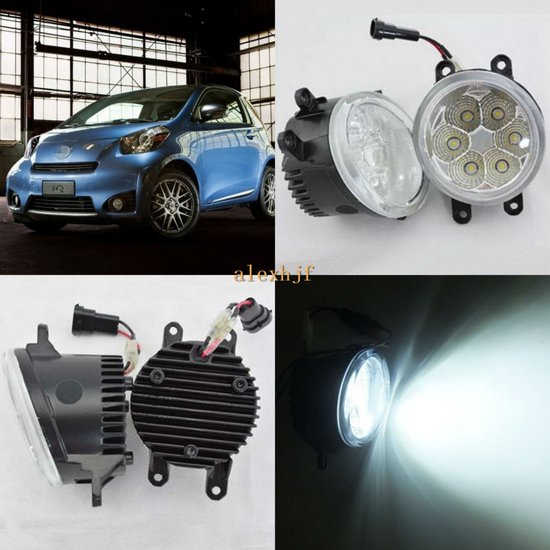 July King 18W 6500K 6LEDs LED Daytime Running Lights LED Fog Lamp case for Scion iQ 2012-2013, over 1260LM/pc july king 18w 6500k 6leds led daytime running lights led fog lamp case for toyota innova 2012 over 1260lm pc