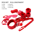 7pcs/set PU Leather Plush bdsm Bondage for Foreplay Restraints Harness Sex Games for Married Couples Sex Toys