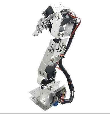 ROT3U Aluminio 6DOF Robótico Brazo Robot Mecánico Pinza Garra de Plata