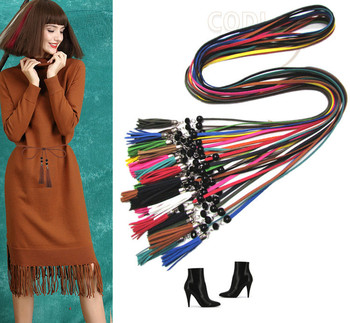 160cm Retro Long knot high waist belts for women modeling belt female leather belt for dress Accessories ceinture femme B217