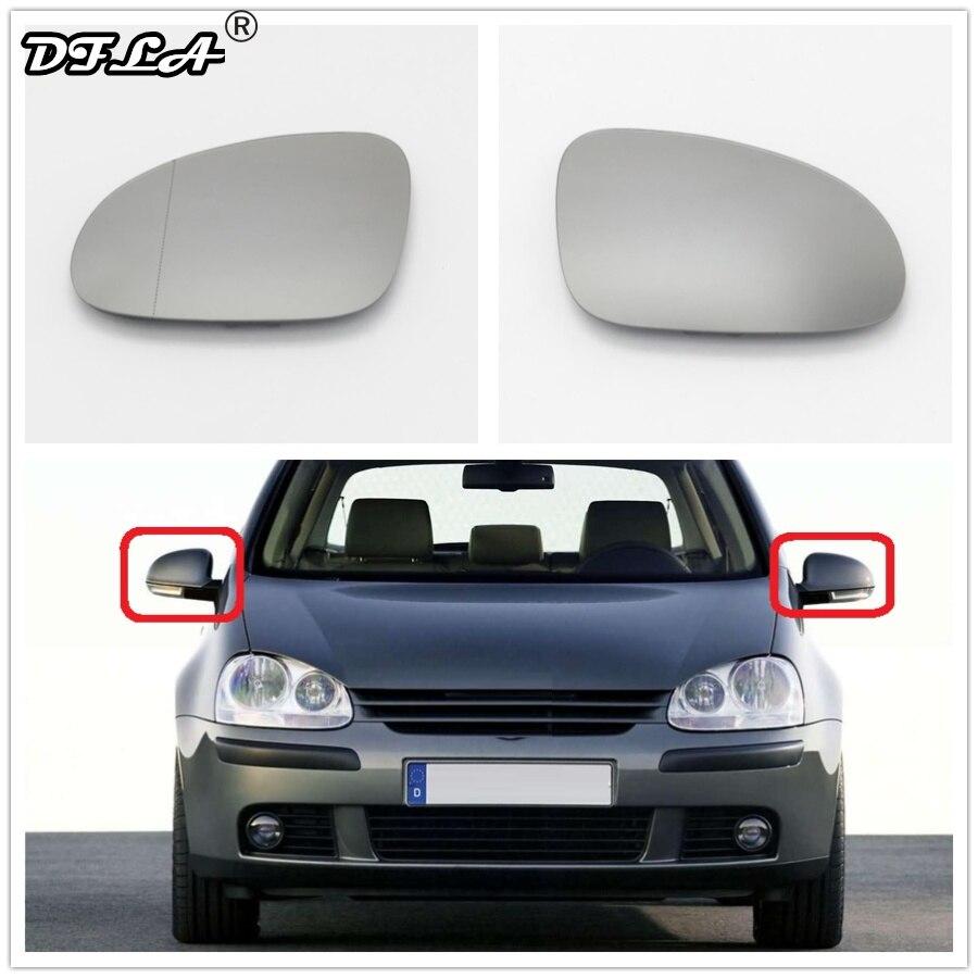 Para VW Golf V MK5 2006, 2007, 2008, 2009-estilo de coche lateral de la puerta de espejo de vidrio caliente