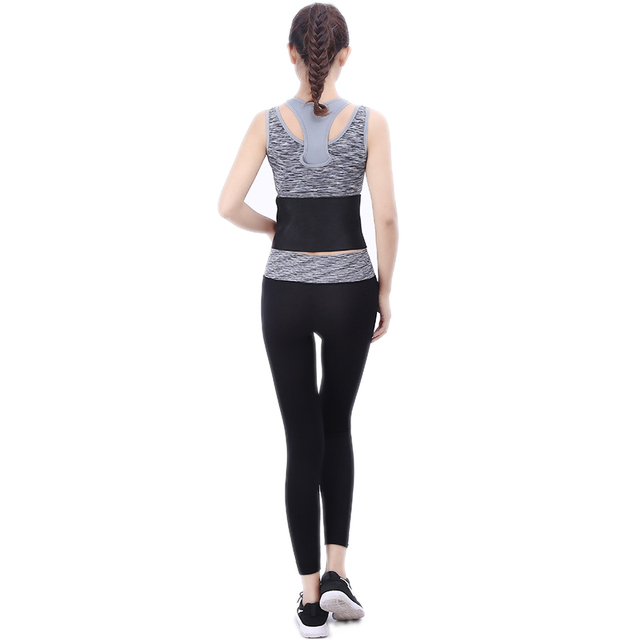 TJ-Tianjun New Waist Trimmer Belt Sweat Wrap Tummy Stomach Weight Loss Fat Slimming Exercise Belly Body Beauty Waist Support 3
