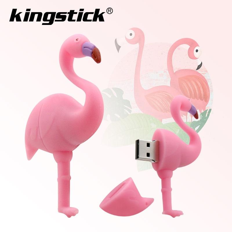 Flamingo USB flash drive 64GB 32GB 16GB 8GB 4GB Genuine cartoon U disk cute thumb drive pendrive usb key pen drive-in USB Flash Drives from Computer & Office