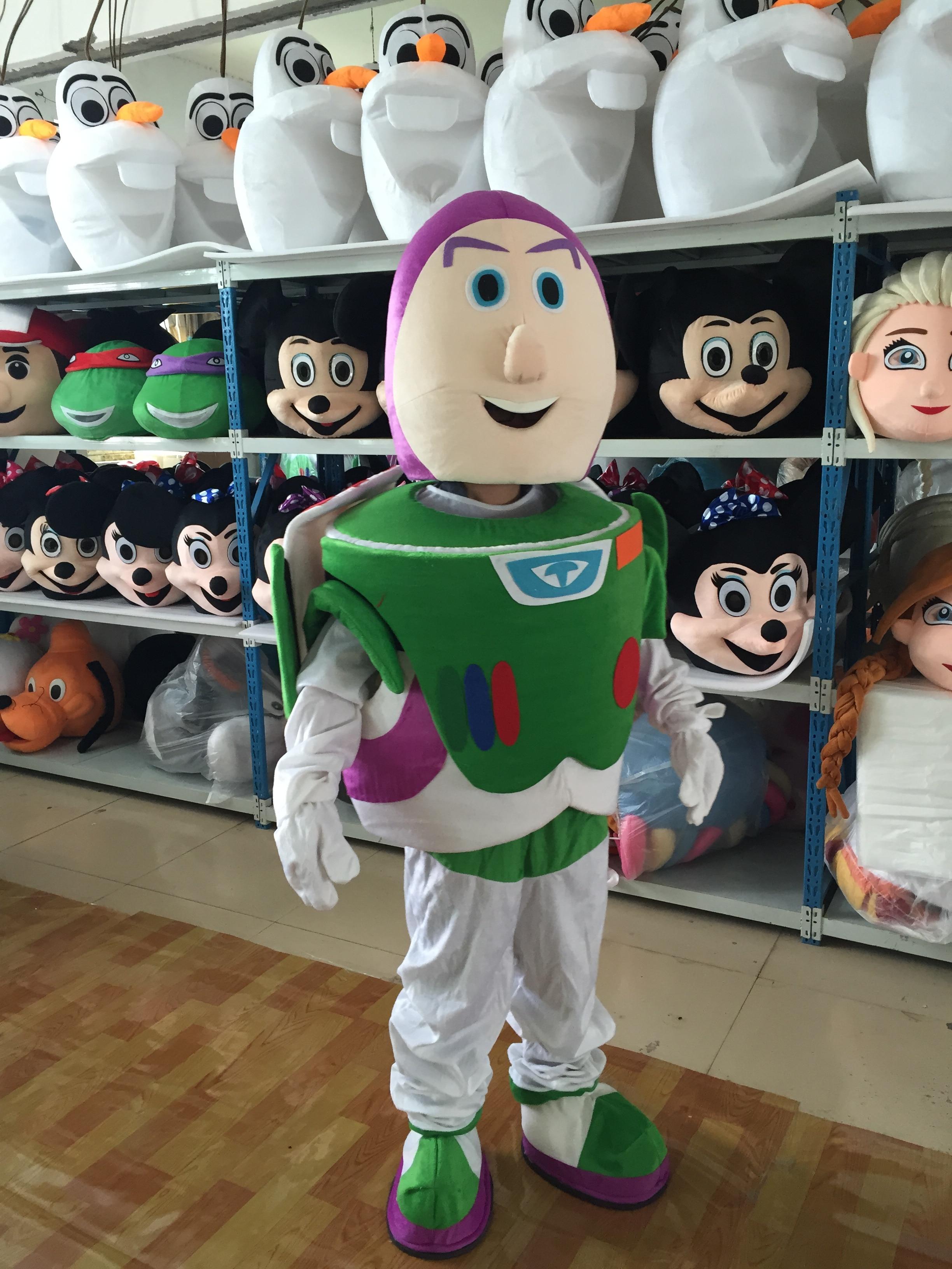 Buzz Lightyear dessin animé mascotte fantaisie fête robe mascotte Costume carnaval personnage Costume de noël cadeau Cosplay tenues adulte