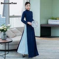 2019 summer ao dai japanese japanese cotton women ao dai yukata high end vietnam aodai cheongsam dress