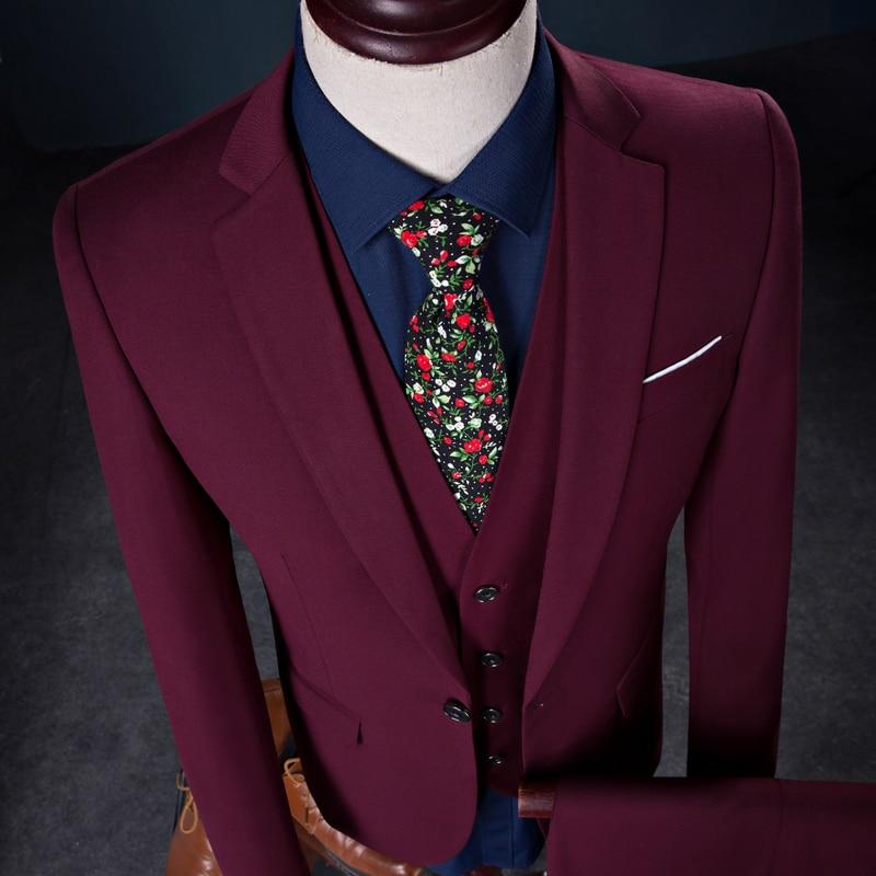 suit piece groom Vest)