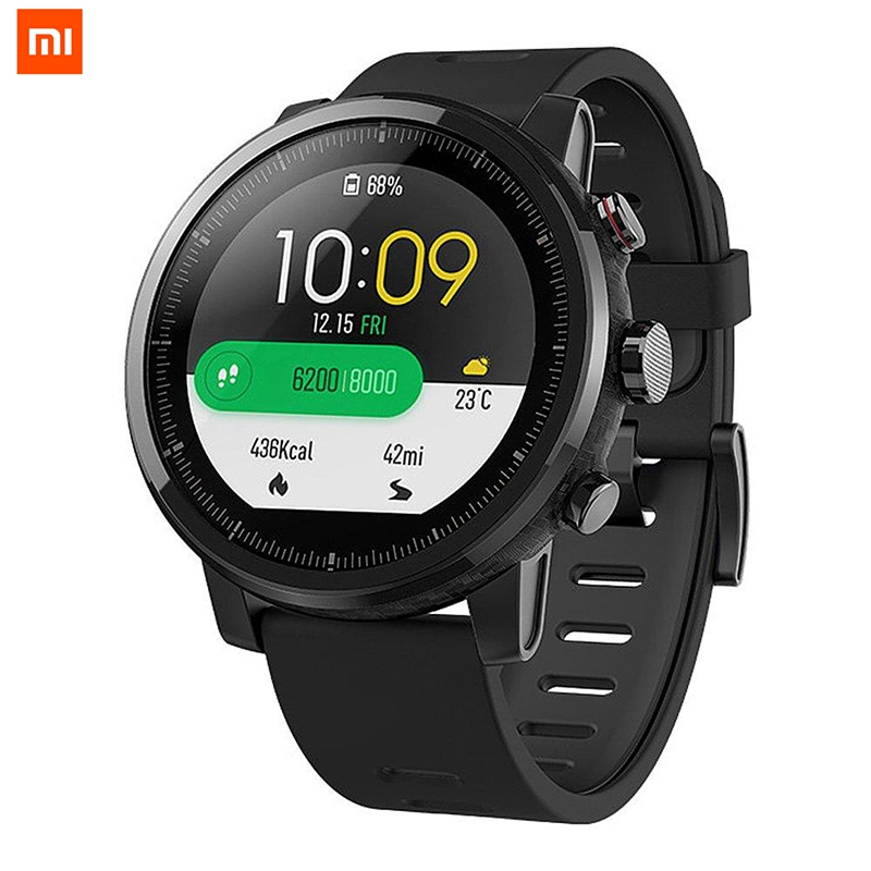 Xiaomi pour HUAMI AMAZFIT International Version Strato Sport Montre Smart Watch 4 RAM 2 GPS 1.34 pouce 2.5D Écran Alipay et bluetooth