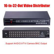 Free Shipping 16 In 32 Out AHD CVI TVI CVBS Video Distributor Amplifier 16CH To 32CH Splitter For CCTV Security Camera