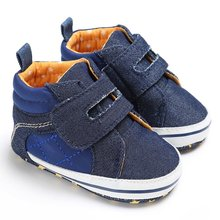 Spring Autumn Newborn Baby Kids Boys First Walkers Crib Bebe Soft Soled Sneakers Fubu Shoes(China)