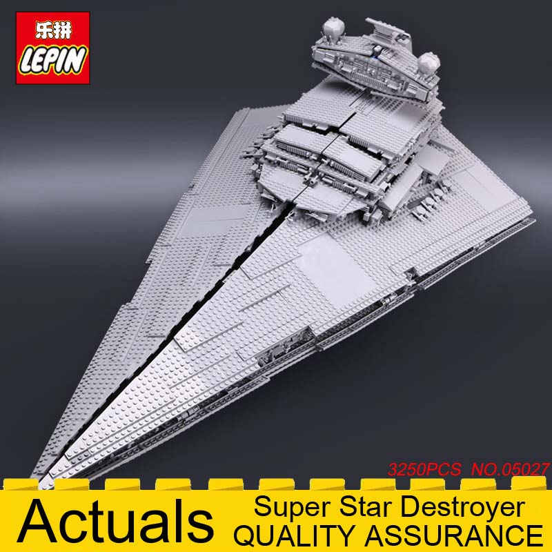 LEPIN 05027A Super Star Destroyer Wars Starship Building Blocks Brick Educational Toy Gift for Children legoinglys 10030 3250PCS lepin 14042 knights heavy armed mobile tracker model building blocks brick toys for children christma gift legoinglys 72006
