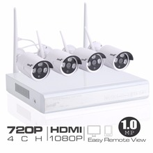 Professional 4CH Wireless 1080P DVR NVR Outdoor 960P IP Camera CCTV Security System Kit 960P 1.0MP HD Resolution
