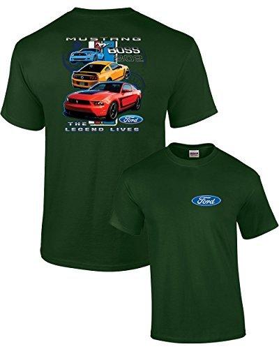 Printed T Shirts Short Sleeve Hipster Tee Mustang Boss T-shirt Legend Lives Design S-3XL Car Tee