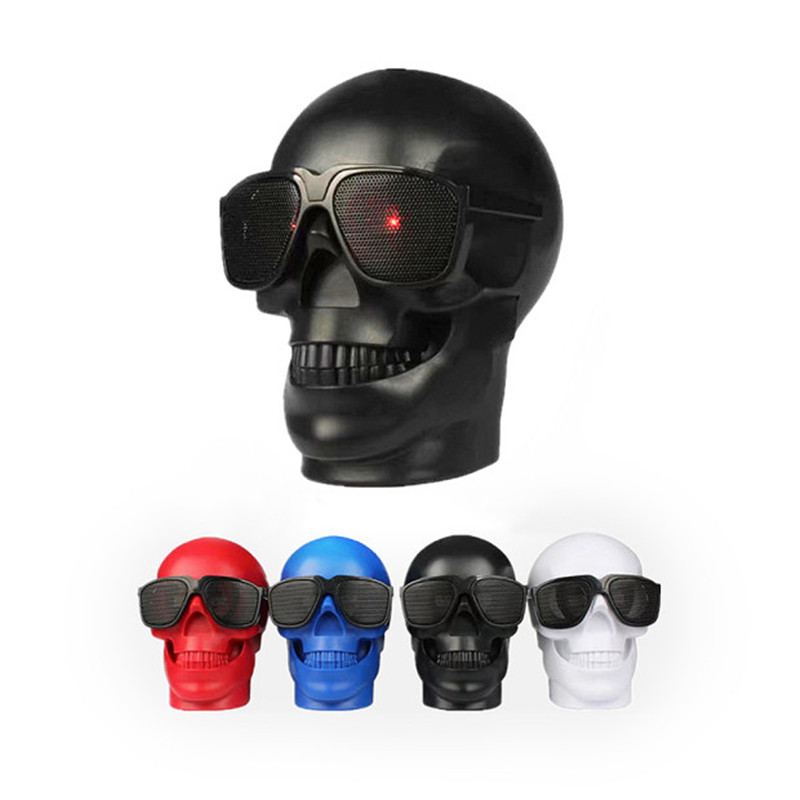 RBAYSALE Bluetooth Wireless Speaker Compact Skull Head  Soundbar  Music Player Hoparlor NFC Audio Rechargeable Battery altavoz