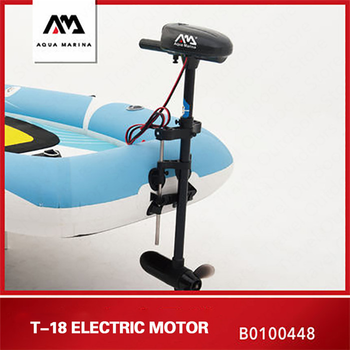 AQUA MARINA Rowing Boat T 18 Inflatable Boats Electric Silent Motor 12V DC Motor Drive For