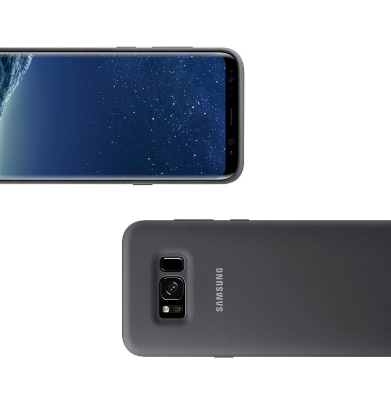 Samsung Official Original Silicone Case Protection Cover For Samsung Galaxy S8 S8 Plus S8 Cases Mobile Phone Housings in Half wrapped Cases from Cellphones Telecommunications