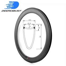 460g 700c 60mm głębokie 23mm szerokości Clincher rower szosowy węgla felgi rowerowe obręcz koła bazalt powierzchnia hamowania UD 3 K 12 K Twill 20 24 otwory|Koła roweru|Sport i rozrywka -