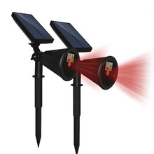 Waterproof Outdoor Solar Power Lawn Lamps Red laser LED Spot Light Garden Path  Solar Landscape Garden Luminaria недорого