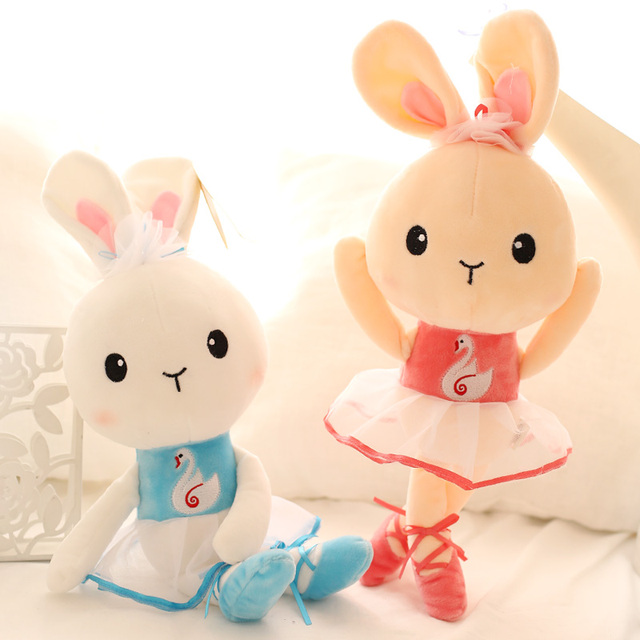 5fc15b53c26c Candice guo! so cute plush toy soft rabbit wearing swan dancing ...