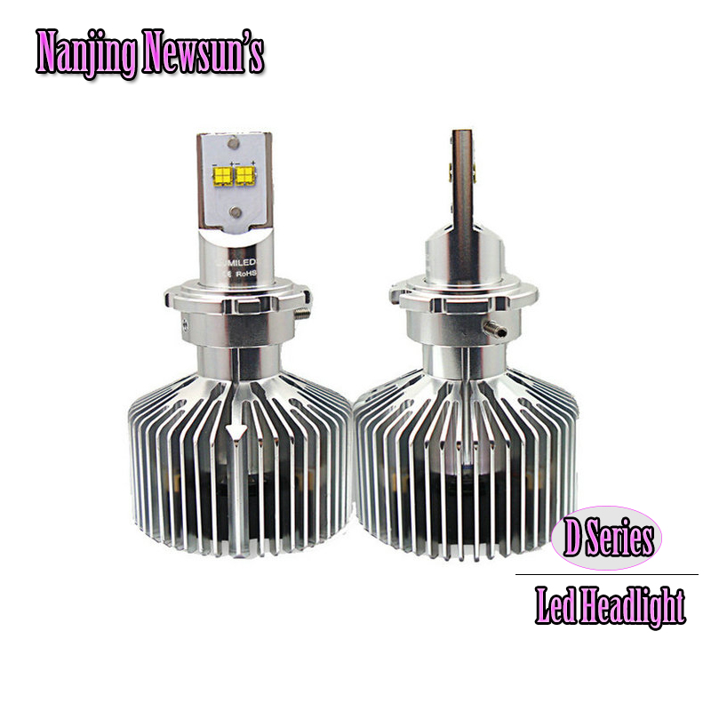 Brand New 1Set Led Headlight Conversion Kits D1 D2 D3 D4 D1S D2S D3S D4S D1R D2R D3R D4R Replacement Bulbs 6000K White 2pcs d1 d2 d3 d4 d2s d2r d2c d4 car led headlight conversion kit 110w 10400lm 6000k white light bulbs