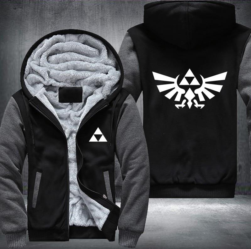 The Legend of Zelda Mens Zipper Hoodie Jacket Coat Sweatshirt Cosplay