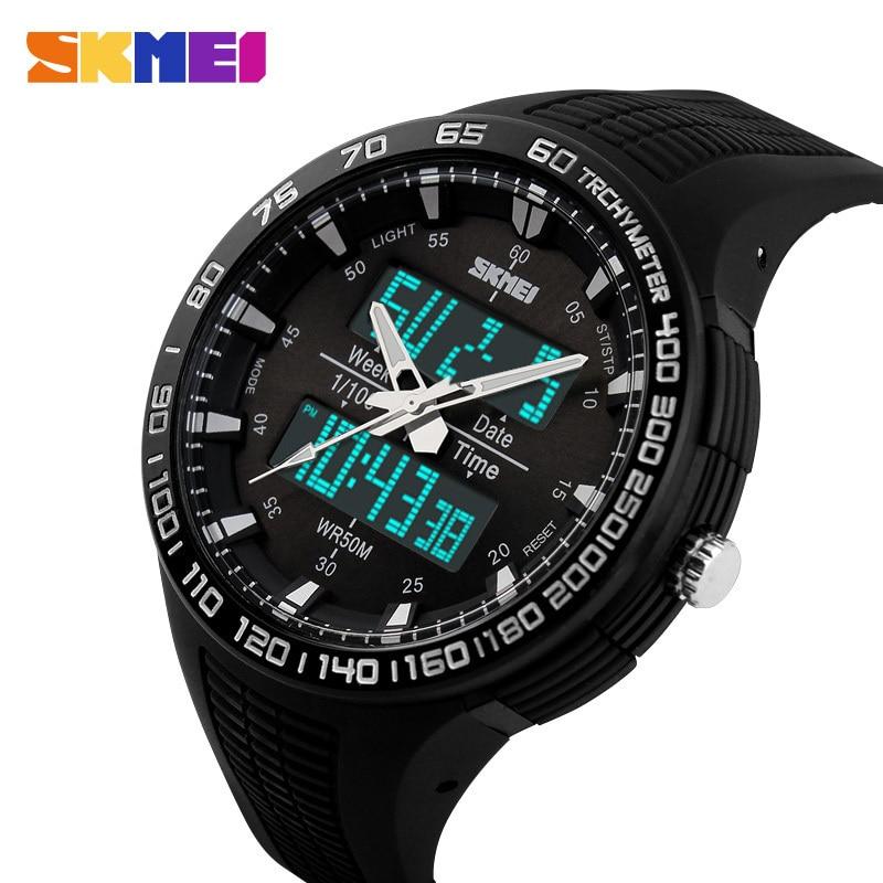 2018 Top SKMEI Men Sports Military Quartz Watches Luxury Brand Fashion Casual Wristwatch Men's Digital Watch relogio masculino стоимость