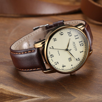 4 Colors Top Julius Man Men's Watch Japan Quartz Hours Clock Auto Date Fine Fashion Real Leather Boy's Retro Birthday Gift Box - discount item  20% OFF Men's Watches