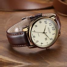 Мужские часы 4 вида цветов Top Julius, японские кварцевые часы с автоматической датой, модные часы из натуральной кожи в стиле ретро для мальчиков, Подарочная коробка на день рождения