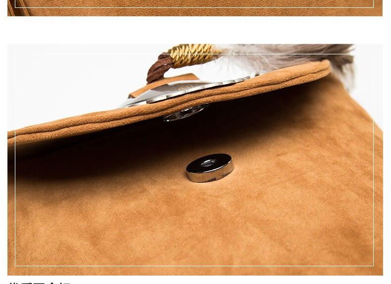 Hippie Suede Fringe Tassel Messenger Bag Women Hobo Shoulder Bags Crossbody Handbag (19)
