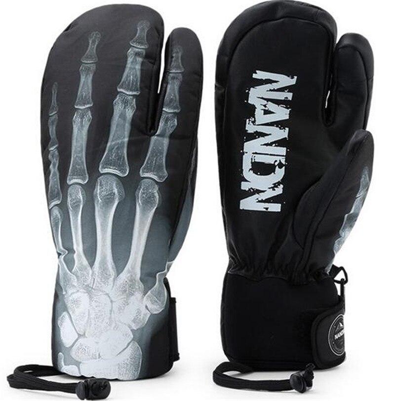 Hommes femmes cuir gants de Ski amoureux étanche écran tactile moufles Snowboard gants vélo Skis traîneau chauffe-main