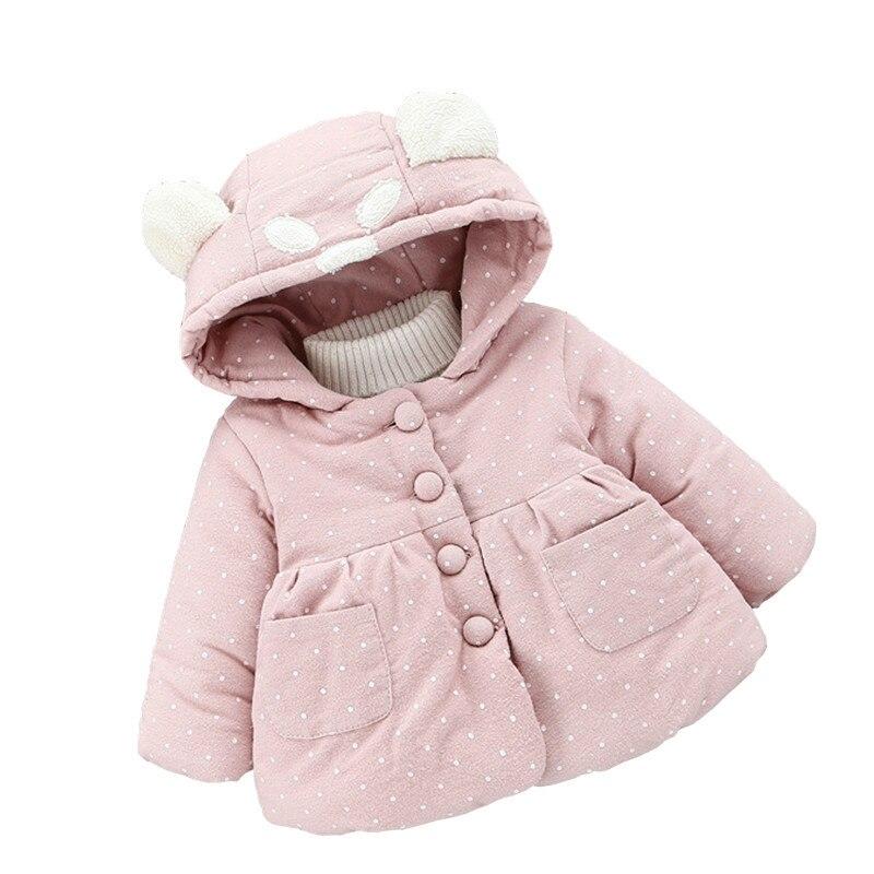 Brillant 2018 Baby Mädchen Jacke Winter Oberbekleidung Für Neugeborene Dicke Warme Mäntel Langarm Mit Kapuze Dot Kleidung Gesundheit Effektiv StäRken
