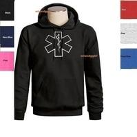 Hot sale man Hoodies EMT EMS Logo Sweatshirt Emergency Medical Technician Logo Hoodie SIZES S 3XL Sweatshirt