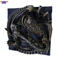 Alien Xenomorph 1/3 GK Resin Statue Retro Relief Wall Hangings Decoration Action Figure Collection Model Toy X635