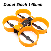Donut kit com mini drone de 3 polegadas, 140 140mm, quadro tipo h com prop guard compatível com 1306 1407 motors para diy rc fpv racing