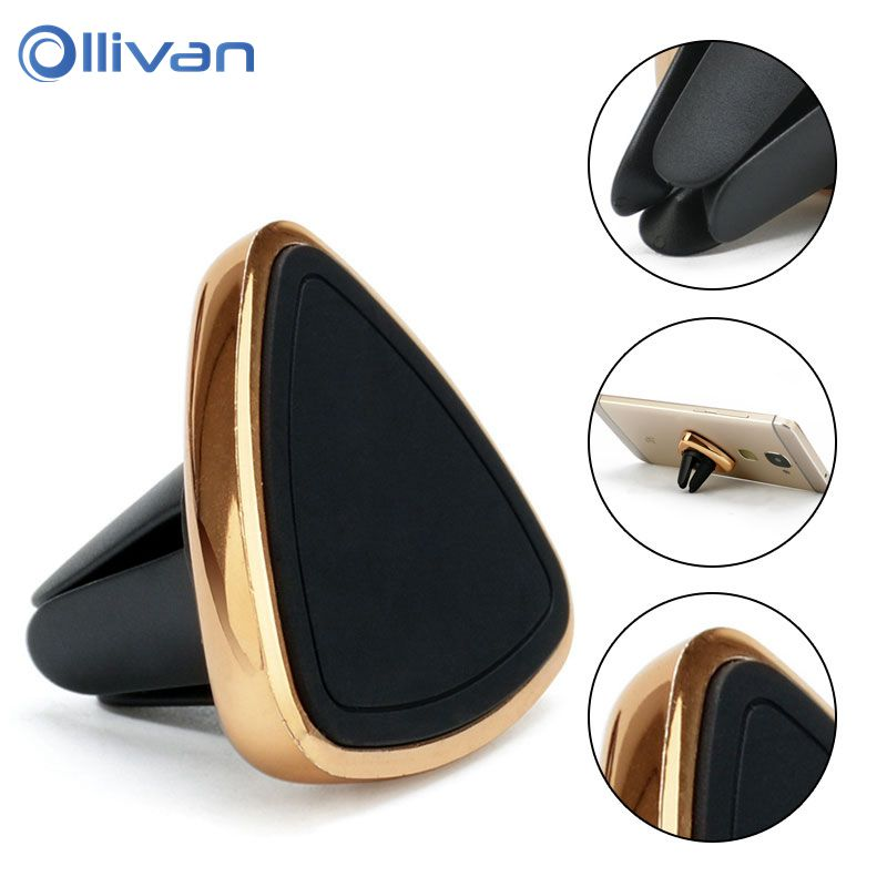 Universal Car Phone Holder 360 Degree Magnetic Triangle Mobile Phone Holder For Iphone Magnet Mount Holder Stand Wholesale 10PCS