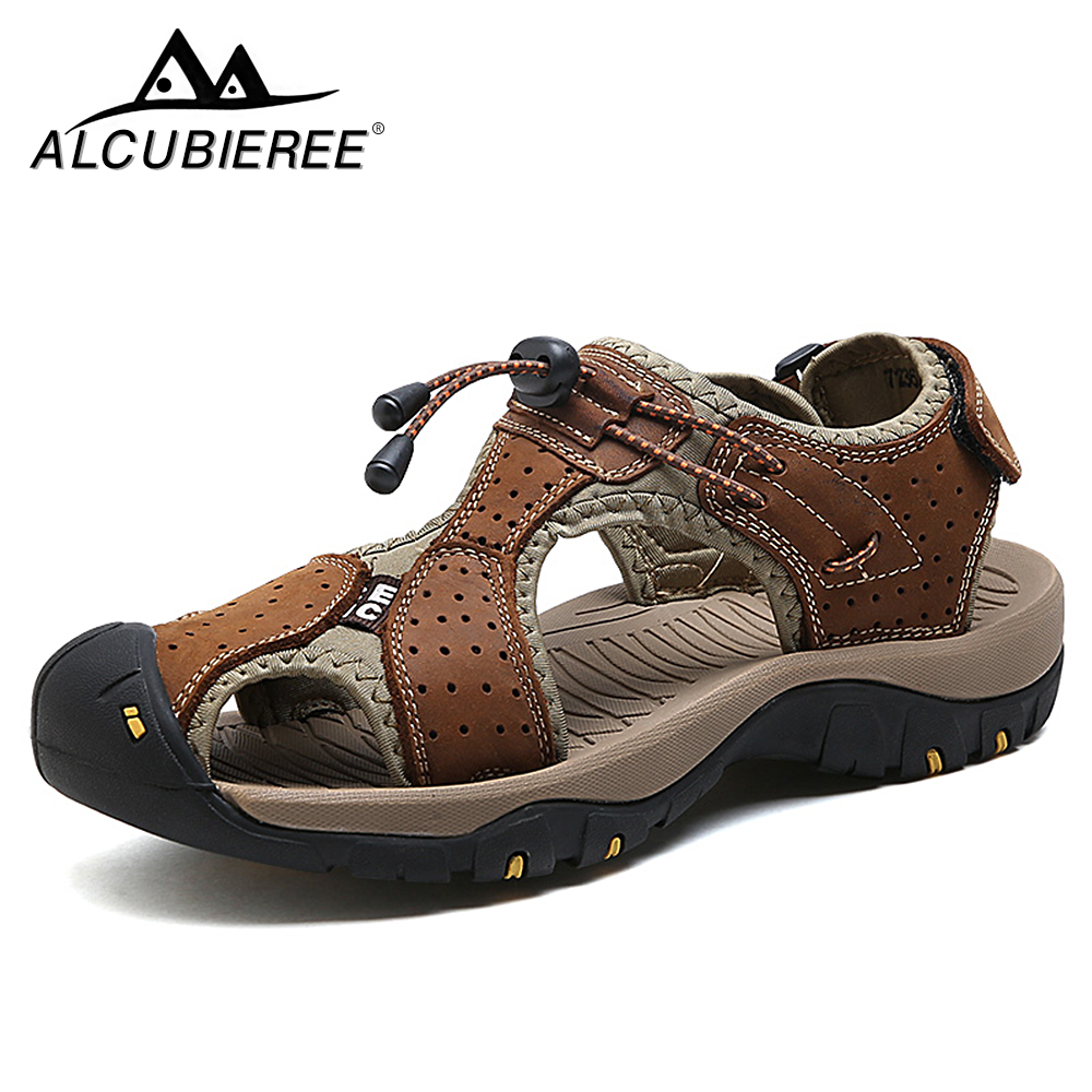 ALCUBIEREE Outdoor sports sandals men's summer breathable water shoes men's casual beach sandals men's shoes Slippers Zapatos