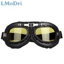LMoDri Retro Motorbike Motocross Helmet Pilot Goggles Jet Av